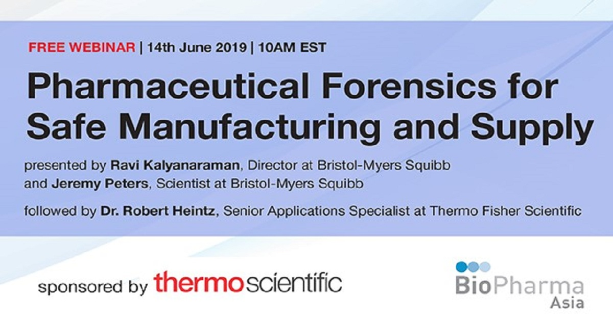 PHARMACEUTICAL FORENSICS FOR SAFE MANUFACTURING AND SUPPLY
