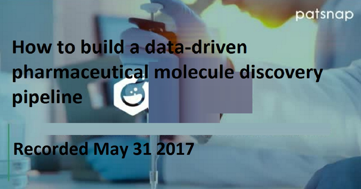 How to build a data-driven pharmaceutical molecule discovery pipeline