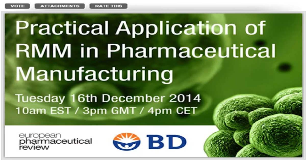 Practical Application of RMM in Pharmaceutical Manufacturing