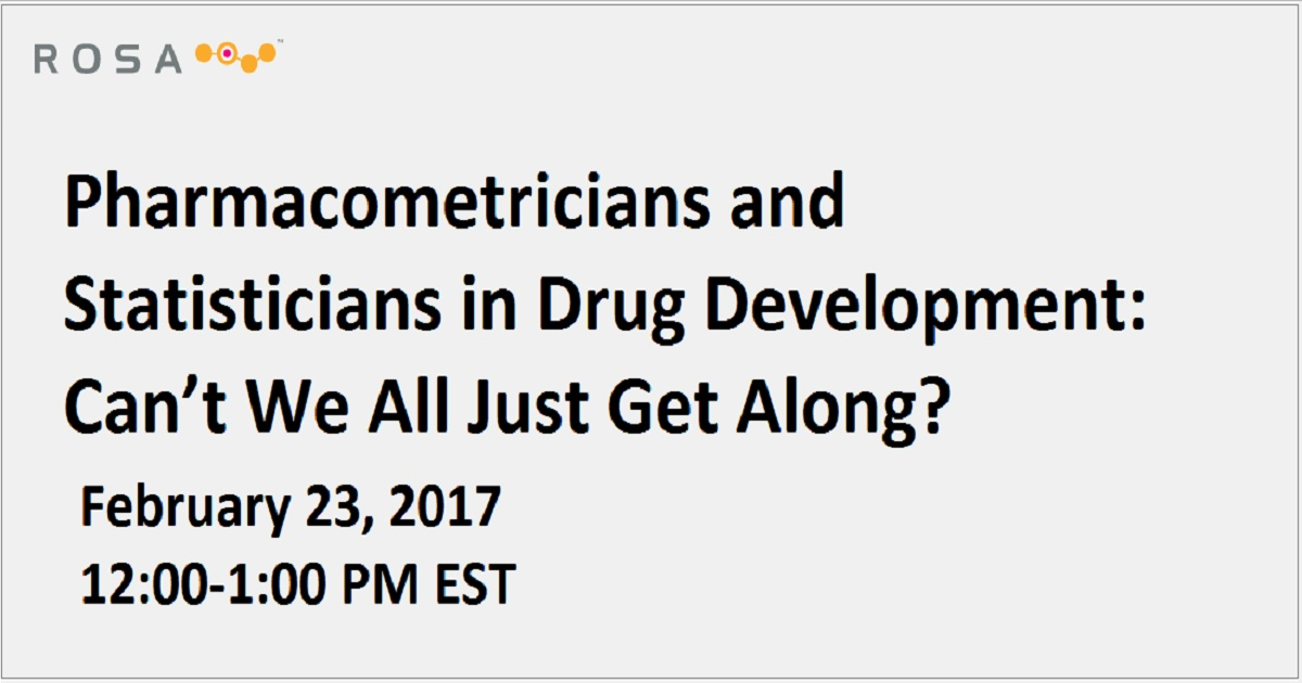 Pharmacometricians and Statisticians in Drug Development: Can't We All Just Get Along?