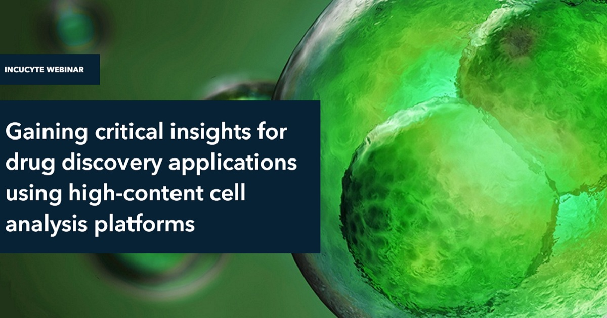 Gaining critical insights for drug discovery applications using high-content cell analysis platforms