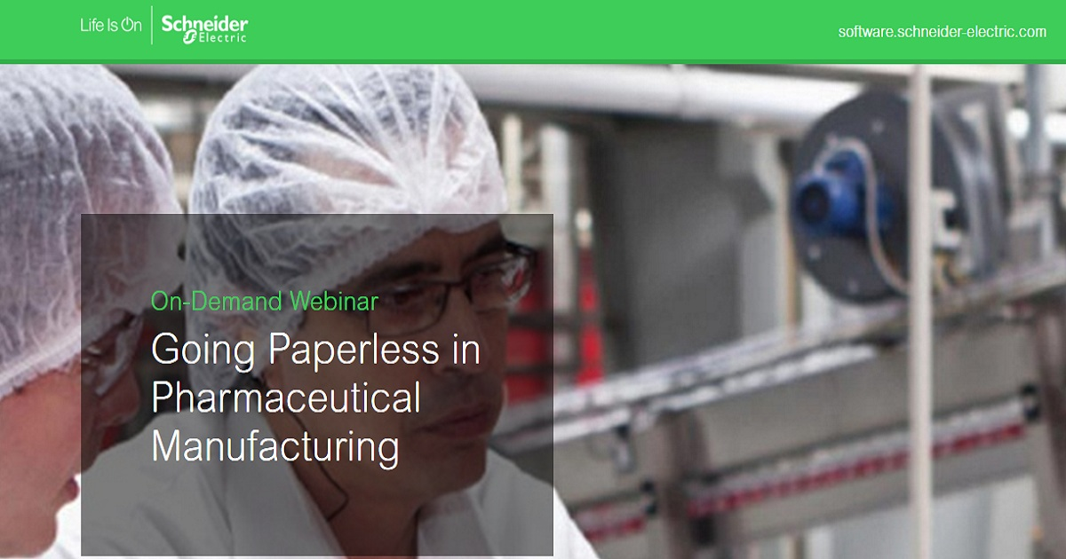 Going Paperless in Pharmaceutical Manufacturing