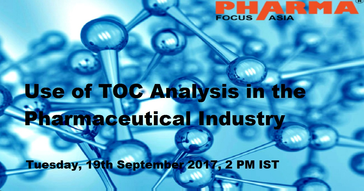 Use of TOC Analysis in the Pharmaceutical Industry