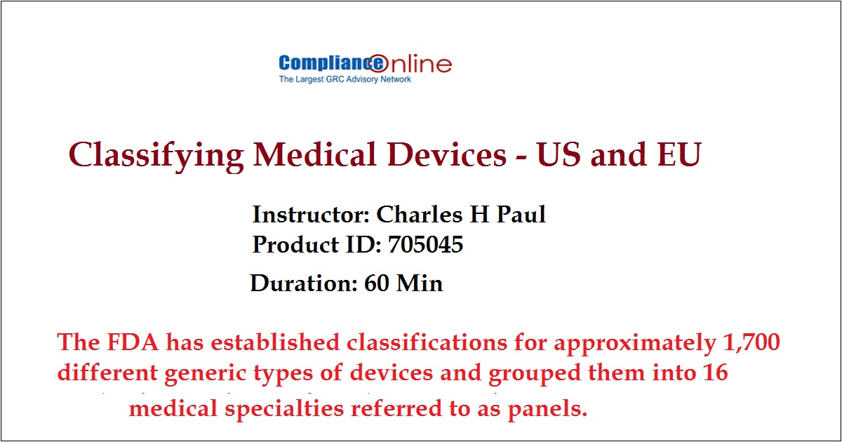 Classifying Medical Devices - US and EU