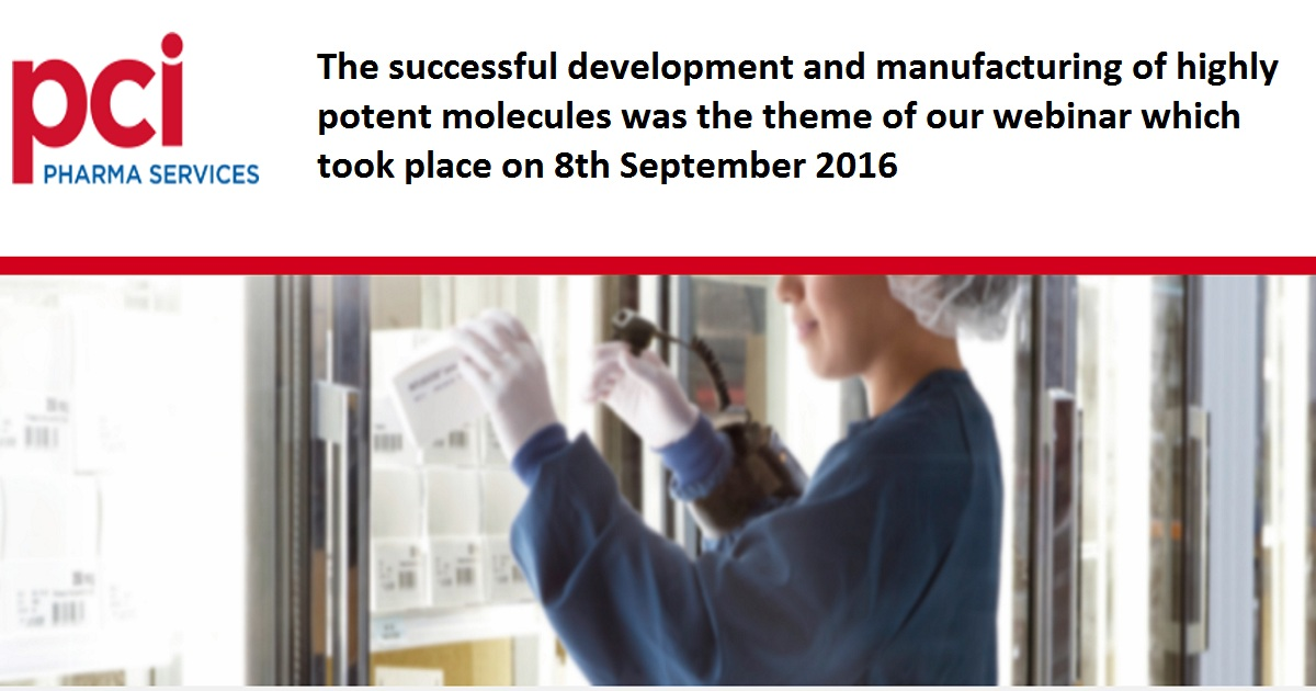 The successful development and manufacturing of highly potent molecules