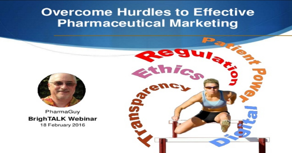 Overcome Hurdles to Effective Pharmaceutical Marketing