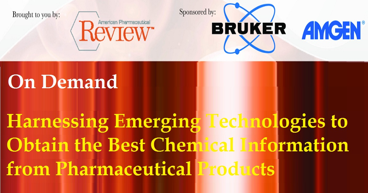 Harnessing Emerging Technologies to Obtain the Best Chemical Information from Pharmaceutical Products