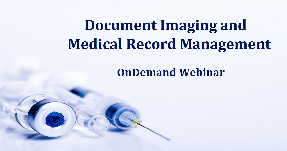 Document Imaging and Medical Record Management