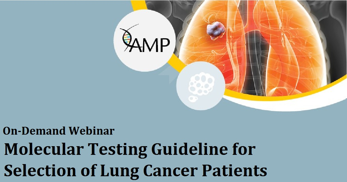 Molecular Testing Guideline for Selection of Lung Cancer Patients