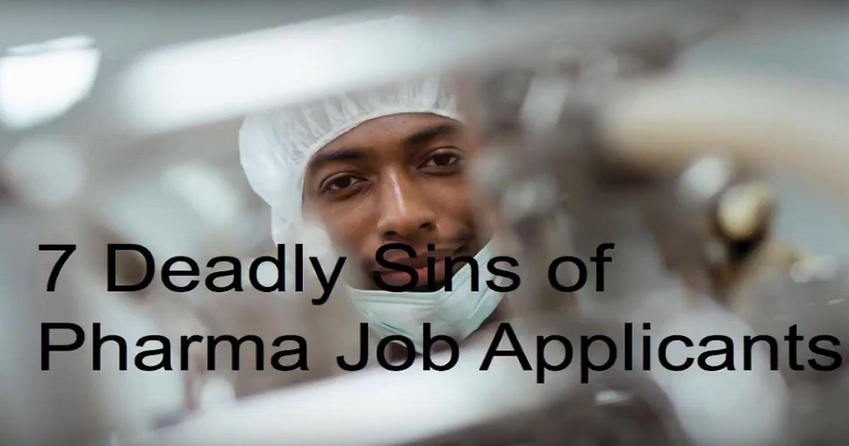 Webinar - The 7 Deadly Sins of Pharma Job Applications