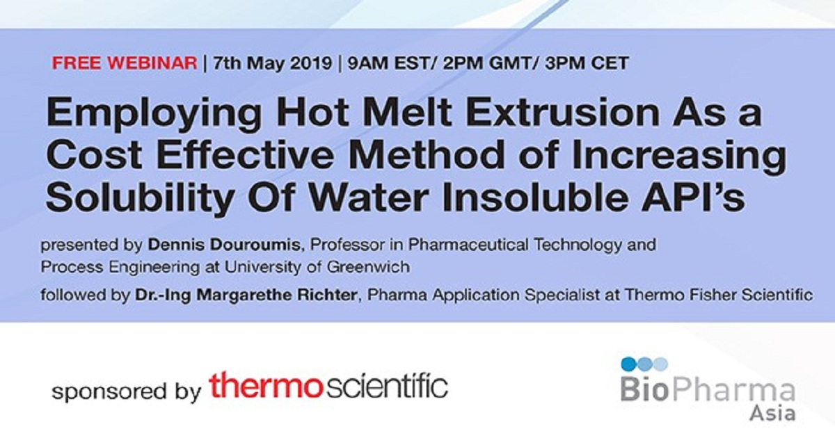 PHARMACEUTICAL HOT MELT EXTRUSION A COST EFFECTIVE METHOD TO INCREASE SOLUBILITY