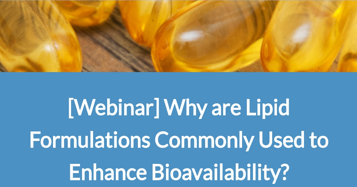 Why are Lipid Formulations Commonly Used to Enhance Bioavailability?