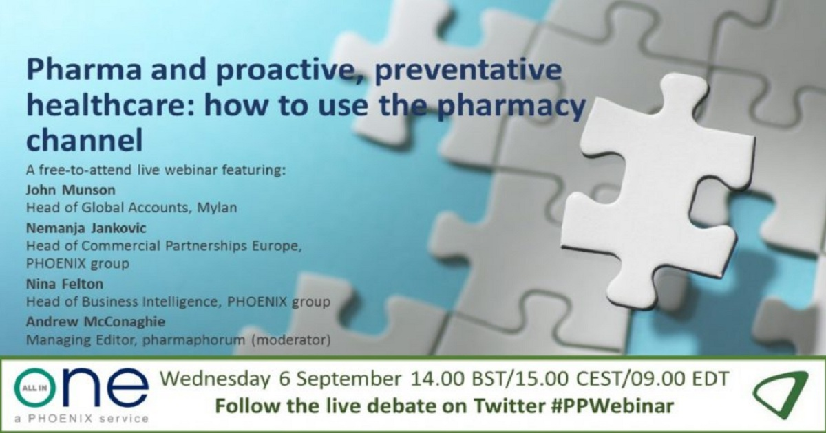 Pharma and proactive, preventative healthcare: how to use the pharmacy channel