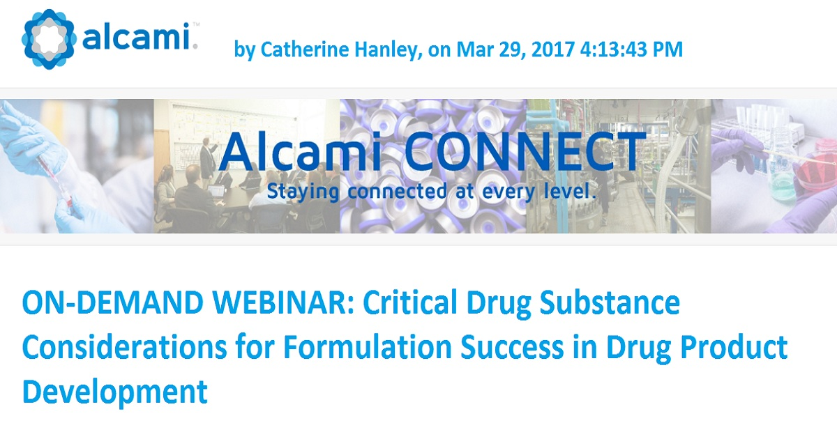 Critical Drug Substance Considerations for Formulation Success in Drug Product Development