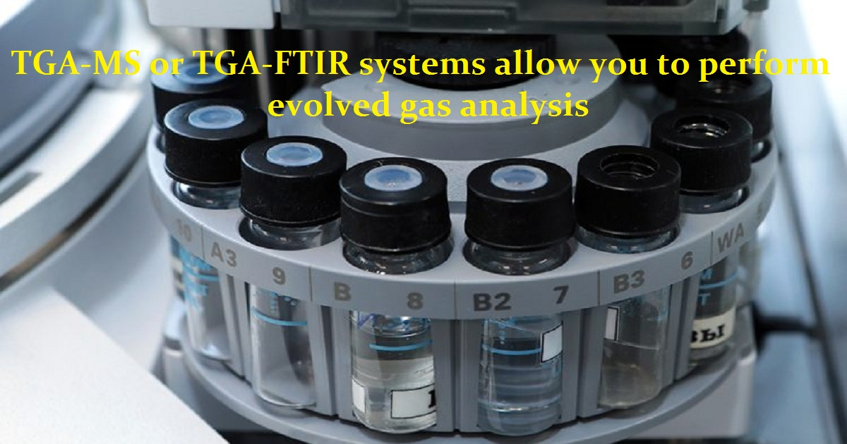 TGA-MS or TGA-FTIR systems allow you to perform evolved gas analysis