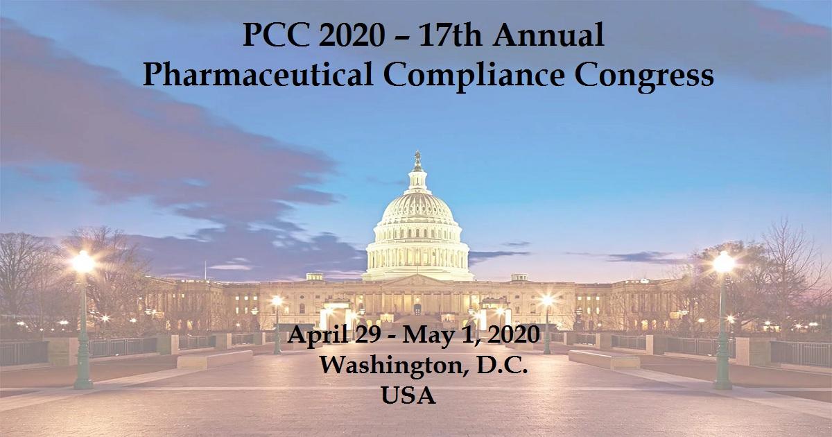 PCC 2020 – 17th Annual Pharmaceutical Compliance Congress