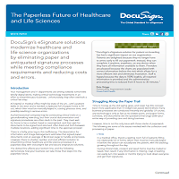 THE PAPERLESS FUTURE OF HEALTHCARE AND LIFE SCIENCES