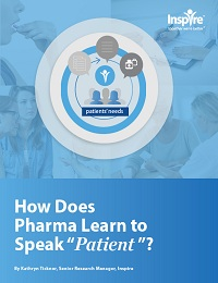 """HOW DOES PHARMA LEARN TO SPEAK """"PATIENT""""?"""