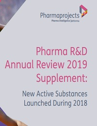 PHARMA RD ANNUAL REVIEW 2019 SUPPLEMENT NEW ACTIVE SUBSTANCES LAUNCHED DURING 2018