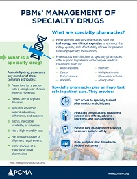 PBMS' MANAGEMENT OF SPECIALTY DRUGS